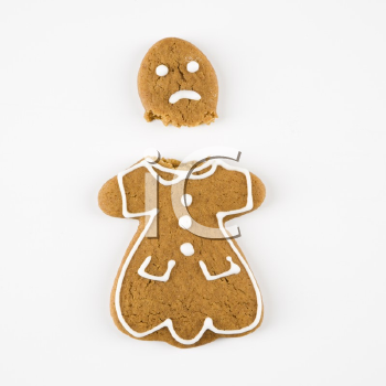 c a Broken Gingerbread Cookie