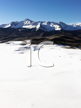 Royalty Free Photo of an Aerial Landscape of the Colorado Rockies