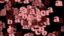 Royalty Free Video of Floating Alphabet Letters