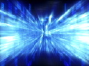 Royalty Free Video of a Flashing Blue Design