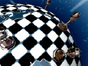 Royalty Free Video of a Round Chess Game