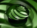 Royalty Free Video of a Rotating Green Abstract