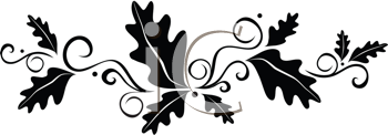 Royalty Free Clipart Image of A Leaf Embellishment
