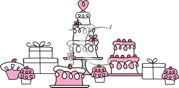 Royalty Free Clipart Image of Baked Goods