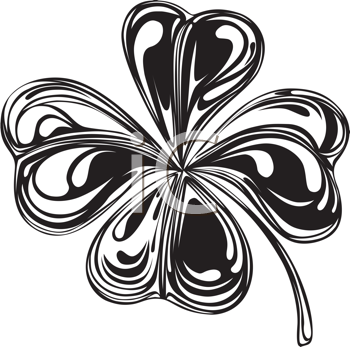 Royalty Free Clipart Image of a Shamrock