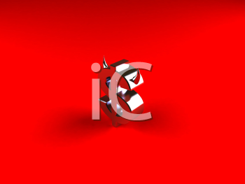 Royalty Free 3d Clipart Image of a Dollar Sign With Devil Horns