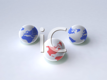 Royalty Free 3d Clipart Image of Globes