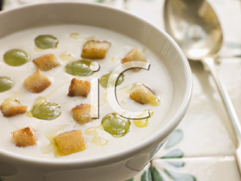 Royalty Free Photo of Ajo Blanco or White Garlic Soup