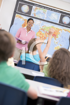 Royalty Free Photo of a Teacher at a Gift