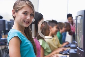 Royalty Free Photo of a Computer Class