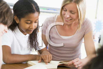 Royalty Free Photo of a Teacher and Student