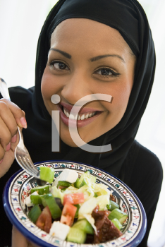 Royalty Free Photo of a Woman With a Salad