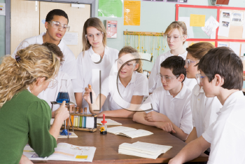 Royalty Free Photo of Chemistry Class