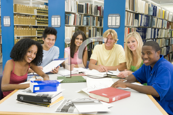 Royalty Free Photo of People in a Library