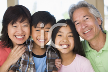 Royalty Free Photo of Grandparents and Grandchildren