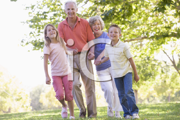 Royalty Free Photo of Grandparents With Their Grandchildren