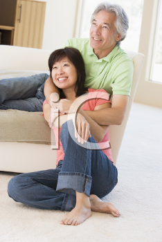 Royalty Free Photo of a Couple Relaxing