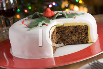 Royalty Free Photo of a Christmas Fruit Cake