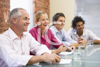 Royalty Free Photo of Four People at a Table