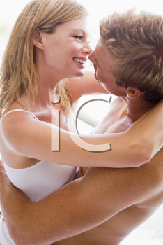 Royalty Free Photo of a Couple Embracing