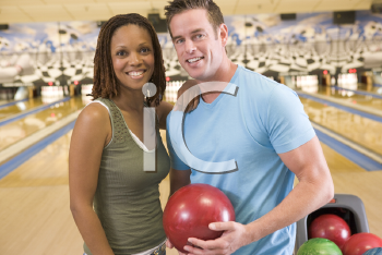 Royalty Free Photo of a Couple Bowling