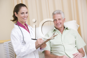 Royalty Free Photo of a Doctor and Patient
