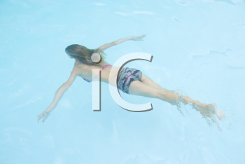 Royalty Free Photo of a Girl Swimming