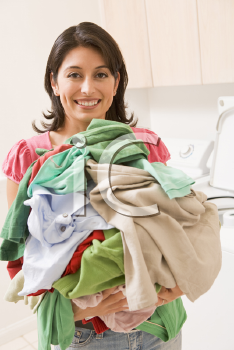 Royalty Free Photo of a Woman With Laundry