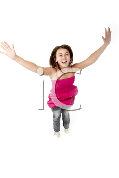 Royalty Free Photo of a Girl Jumping
