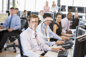 Royalty Free Photo of a Team of Stock Traders