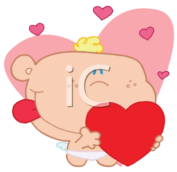 Royalty Free Clipart Image of Cupid