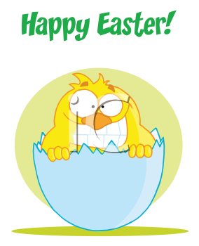 Royalty Free Clipart Image of a Happy Easter Greeting
