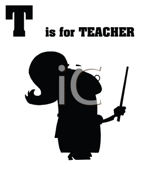 Royalty Free Clipart Image of T is for Teacher