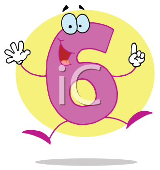 Royalty Free Clipart Image of the Number 6
