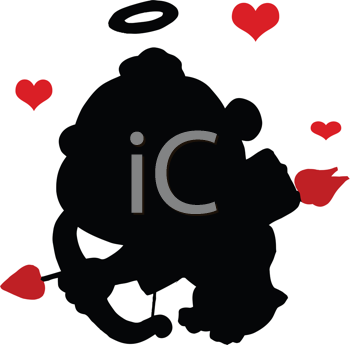 Royalty Free Clipart Image of a Cupid