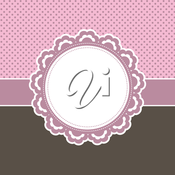 Cute decorative background using pink and brown colours