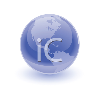 Royalty Free Clipart Image of a Blue Earth