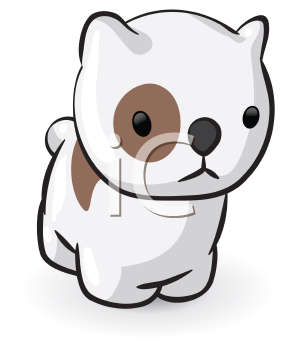 Royalty Free Clipart Image of a Puppy