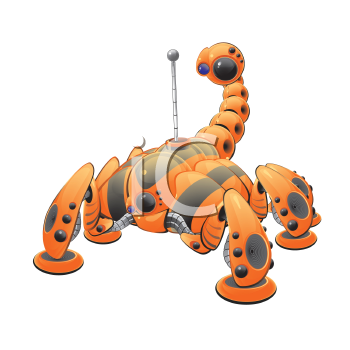 Royalty Free Clipart Image of a Robotic Crawler