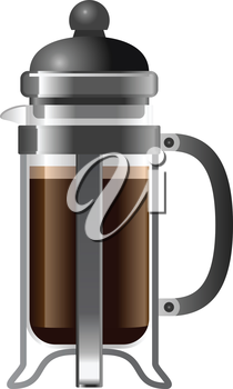 Royalty Free Clipart Image of a French Press
