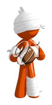 Personal Injury Victim Holding A Football