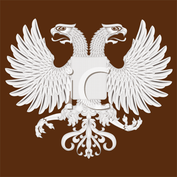 Royalty Free Clipart Image of an Eagle Crest