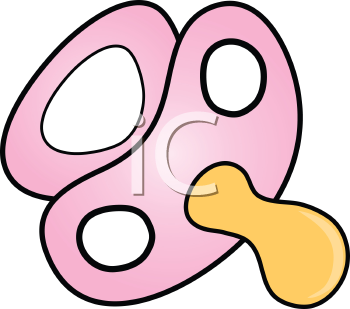 Royalty Free Clipart Image of a Pink Pacifier