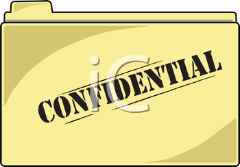 Royalty Free Clipart Image of a Confidential File