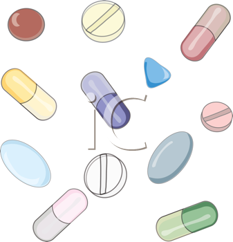 Royalty Free Clipart Image of Pill
