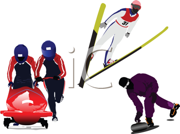 Royalty Free Clipart Image of Winter Sports