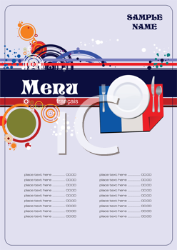 Royalty Free Clipart Image of a French Menu