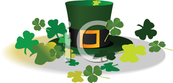Royalty Free Clipart Image of a Leprechaun's Hat
