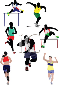 Set of some kinds of athletics. Vector illustration