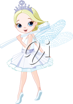 Royalty Free Clipart Image of the Tooth Fairy